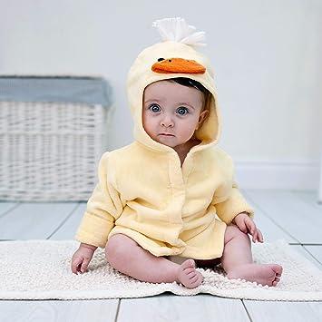 Amazon.com   Bathing Bunnies Duck Baby Bath Robe Towel   Baby 98520f38a