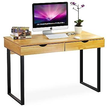 Tribesigns Computertisch L Shaped Moderner Computertisch Mit Schreibtisch Für  Zuhause Oder Büro   Farbige Tastatur