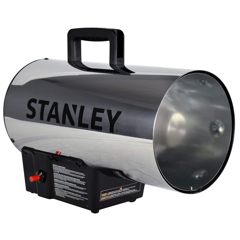 STANLEY ST-60HB2-GFA Gas Forced Air Heater, 60,000 BTU, Black, Silver