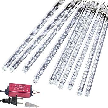 eagwell meteor lights 20 inches snow white 10 tube 540 leds meteor shower rain lights