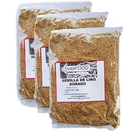 VidiFood Semillas de Lino Dorado - 3kg: Amazon.es: Alimentación y bebidas