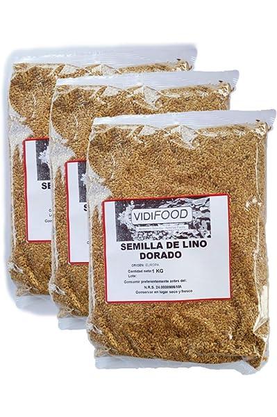 Semillas de Lino Dorado - 3kg - Rica fuente de ácidos grasos Omega ...
