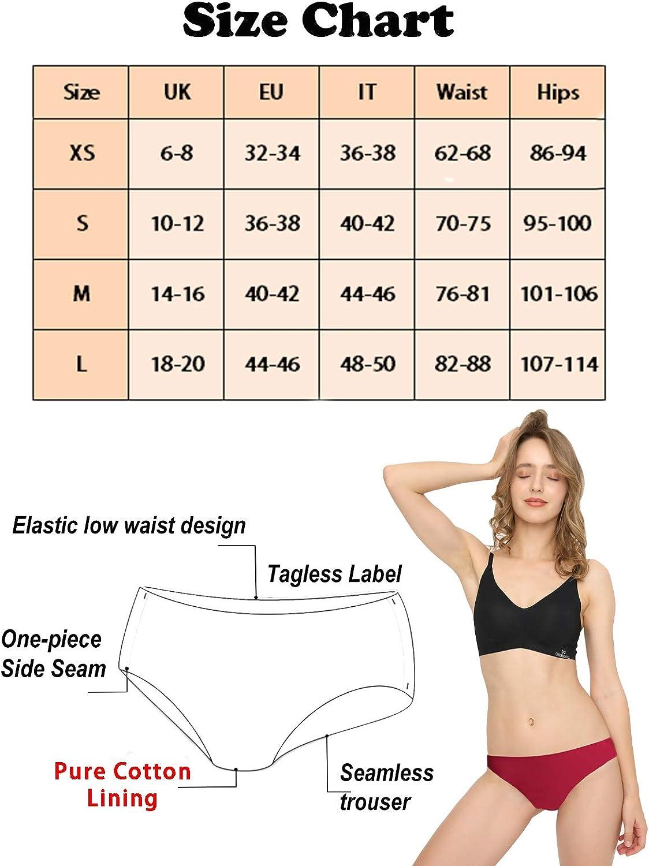 Pacco da 3//6 Mutande da Donna Slip a Vita Bassa Invisibile Senza Cuciture Mutande Femminili Elastico Briefs Semplice e Confortevole