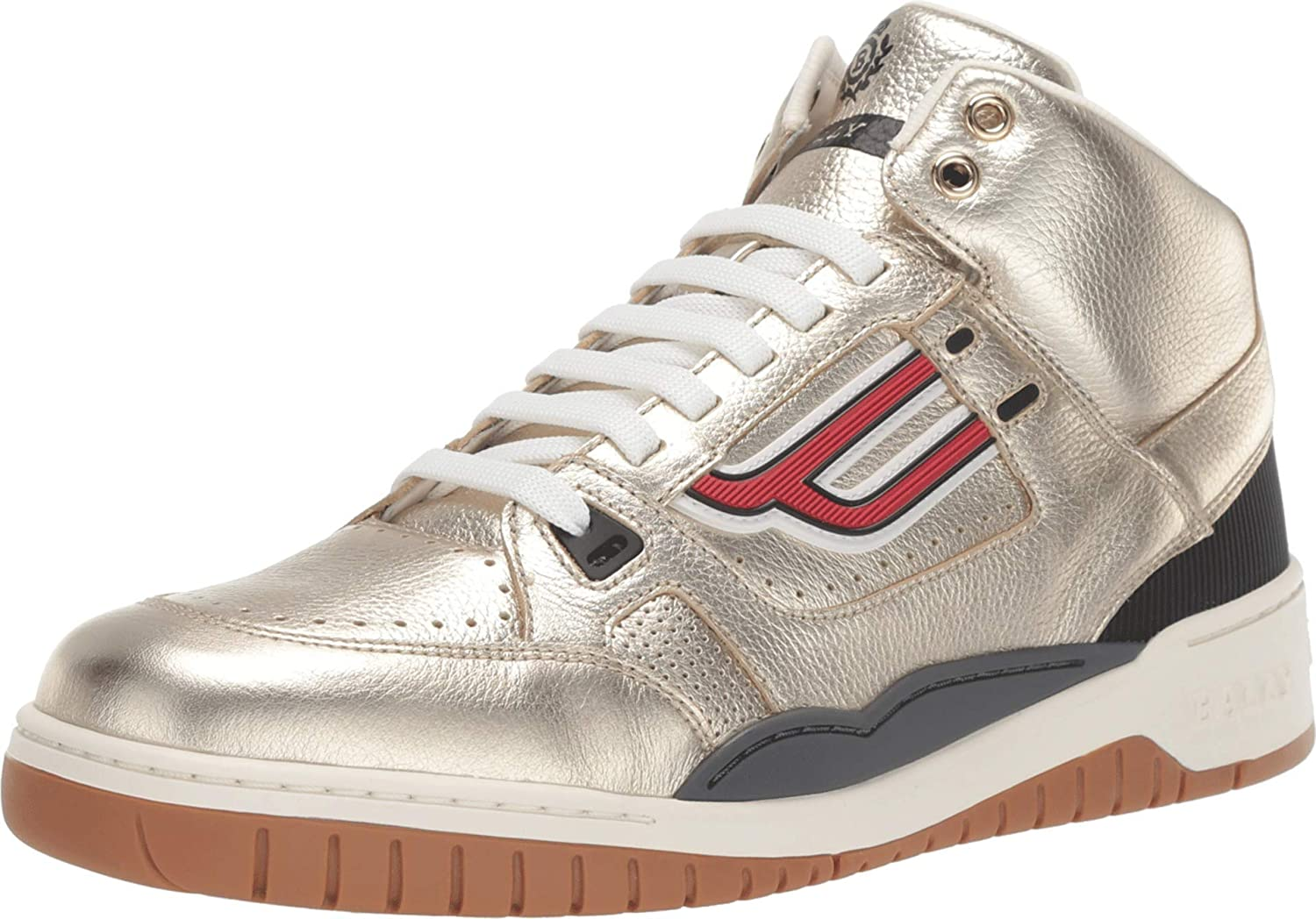 móvil Error esculpir  Buy BALLY King Sneaker Gold 8 UK (US Men's 9) at Amazon.in