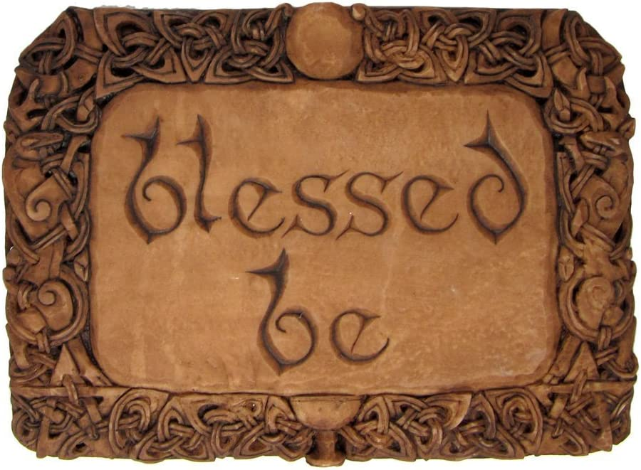 Blessed Be Wall Plaque Wood Finish