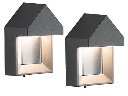 Konstsmide set di nobile luci da parete cosenza antracite watt