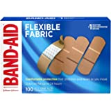 """Band-Aid Adhesive Bandages, Flexible Fabric, All One Size 1"""" X 3"""" , 100 Count (Pack of 2)"""