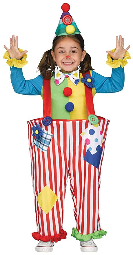 Halloween Clown Girl Outfit.Amazon Com Uhc Girl S Crazy Clown Outfit Funny Theme Fancy