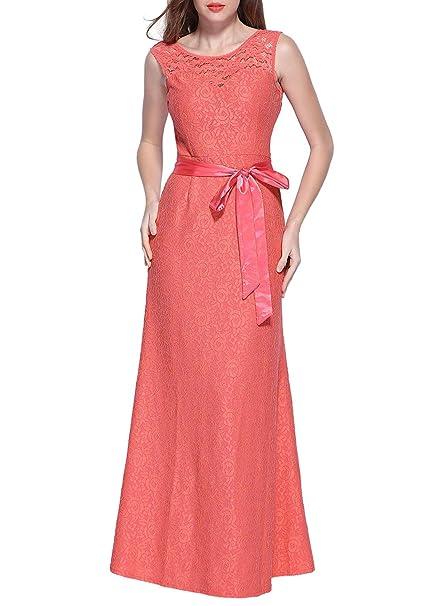 Miusol - Vestido - Noche - para Mujer Rosa 38 40 42 44 46 48 50
