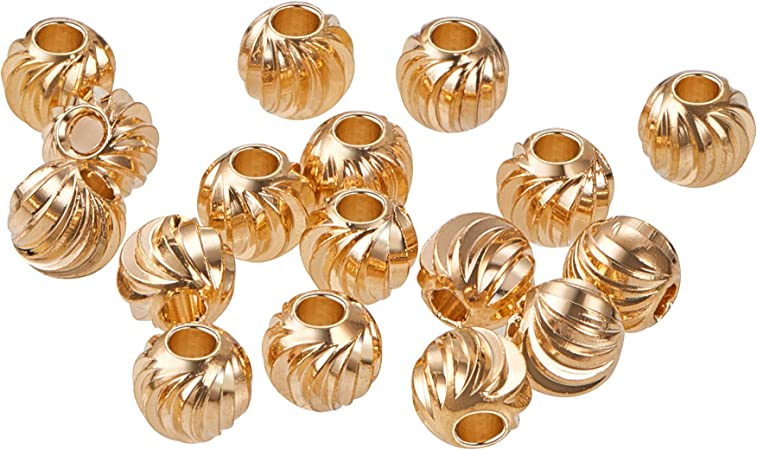 20 pcs- Gold Plated Brass Spacer Beads Gold Hearts Gold Heart Spacer Beads
