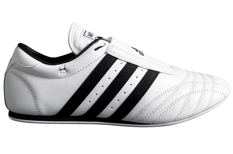 Adidas空手テコンドー/格闘技/靴、ホワイト/ブラックストライプ B00MPR8OTU  10 mens