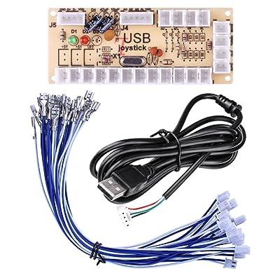 Quimat Cero Retraso de Codificador USB de Arcade para Juego de PC y Bricolaje para Mame Jamma Videojuego de Lucha: Electrónica