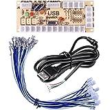 Quimat Zero Delay Arcade USB Encoder PC to Joystick for Mame Jamma & Other PC Fighting Games QR05