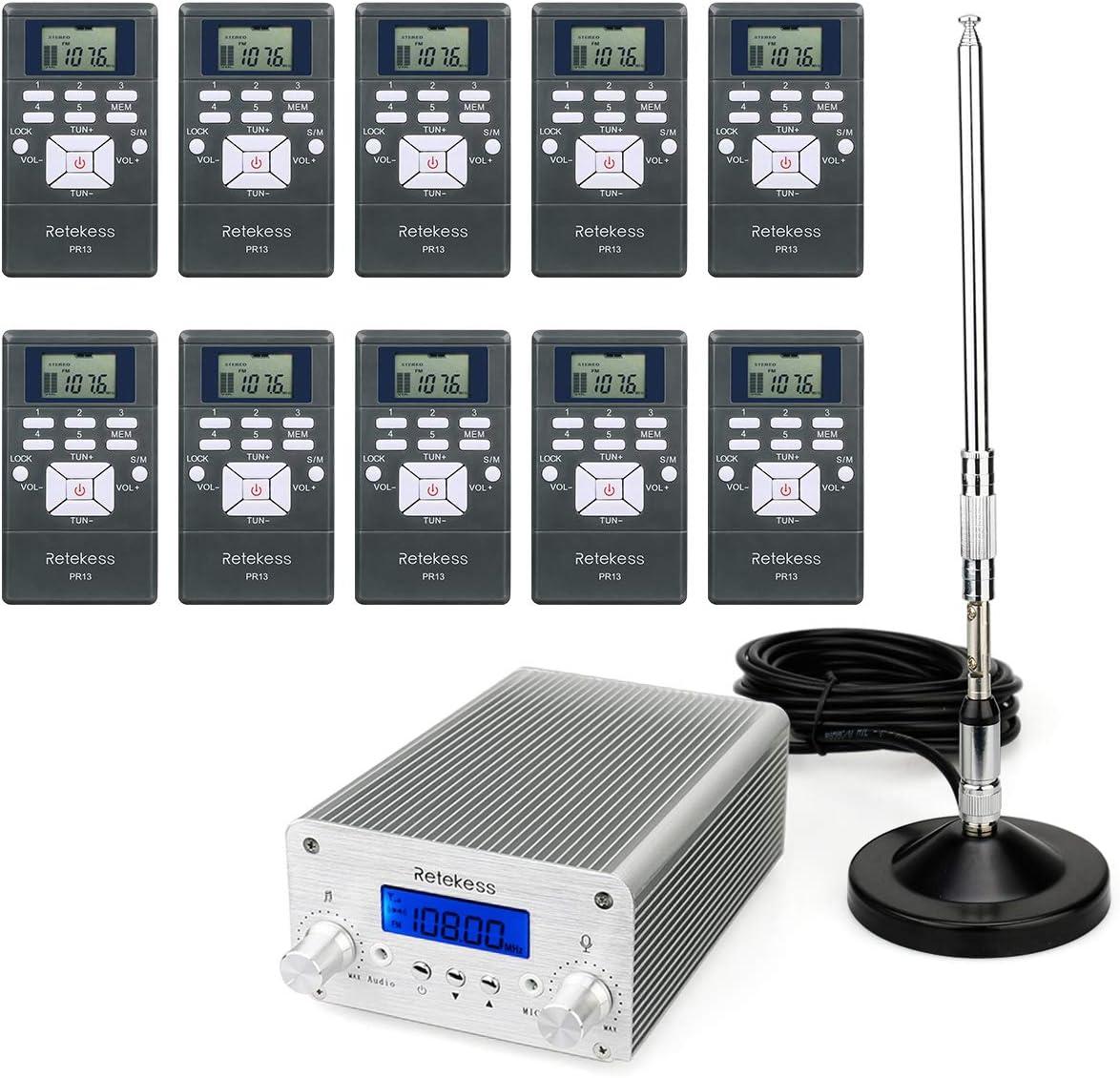 Retekess TR502 - Transmisor FM de 5 W/15 W de largo alcance ...