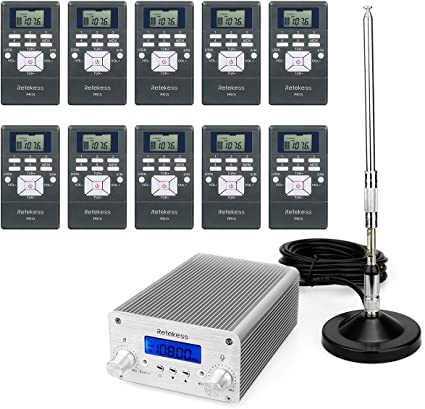 KKTECT FM Stereo Transmitter 0.1 0.5W Digital LCD PLL Wireless Stereo Broadcast System For Church Radio Station Car Theater