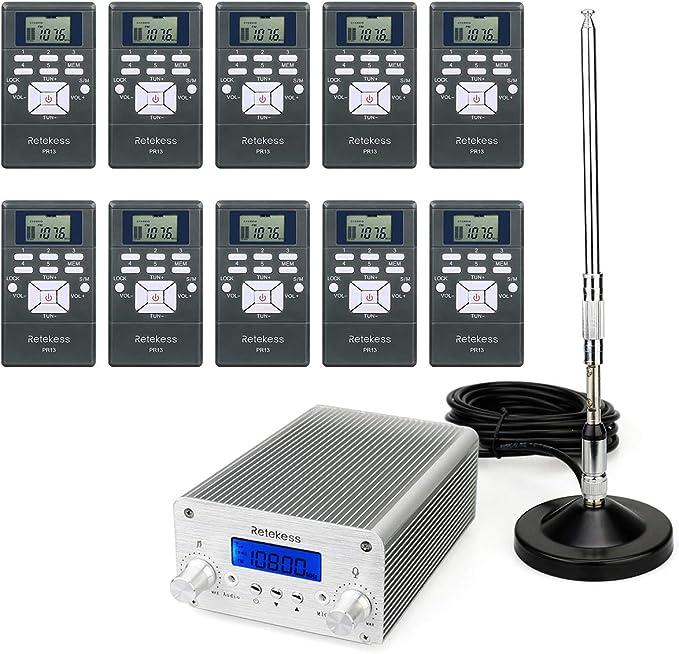 Retekess TR502 - Transmisor FM de 5 W/15 W de largo ...