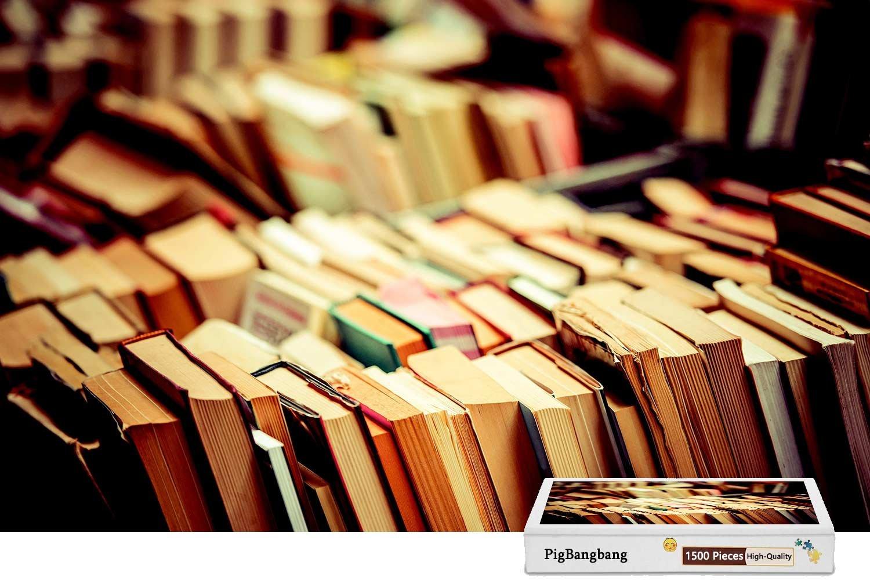 定番 pigbangbang –、intellectiv X Games – Photomosaic Jigsawパズル木製Aボックスで有名な絵画 – Lot of使用本Bookshop – 1500ピースジグソーパズル(34.4 X 22.6 CM) B07CM52CXL, 上磯町:d012440b --- fenixevent.ee