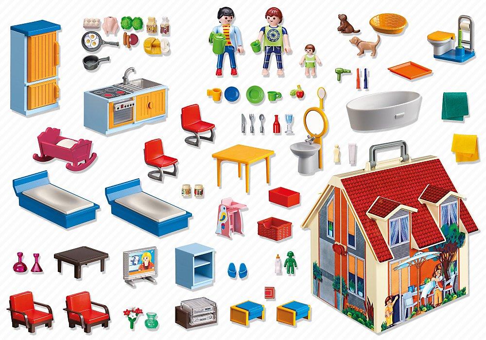 playmobil 5167 jeu de construction maison transportable amazonfr jeux et jouets