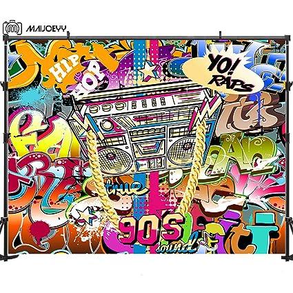 Amazon Com Maijoeyy 7x5ft Hip Hop Photo Backdrop
