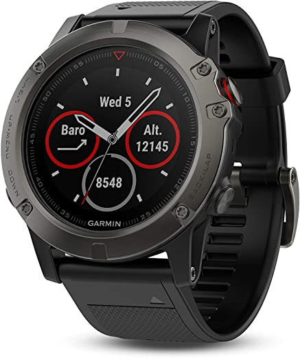 Garmin Fenix 5X Sapphire - Slate Gray with Black Band