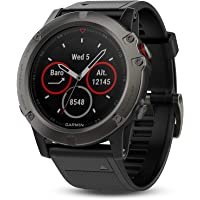 Garmin Fenix 5X Sapphire Multisport Watch, 51 mm (Slate Grey with Black Band)