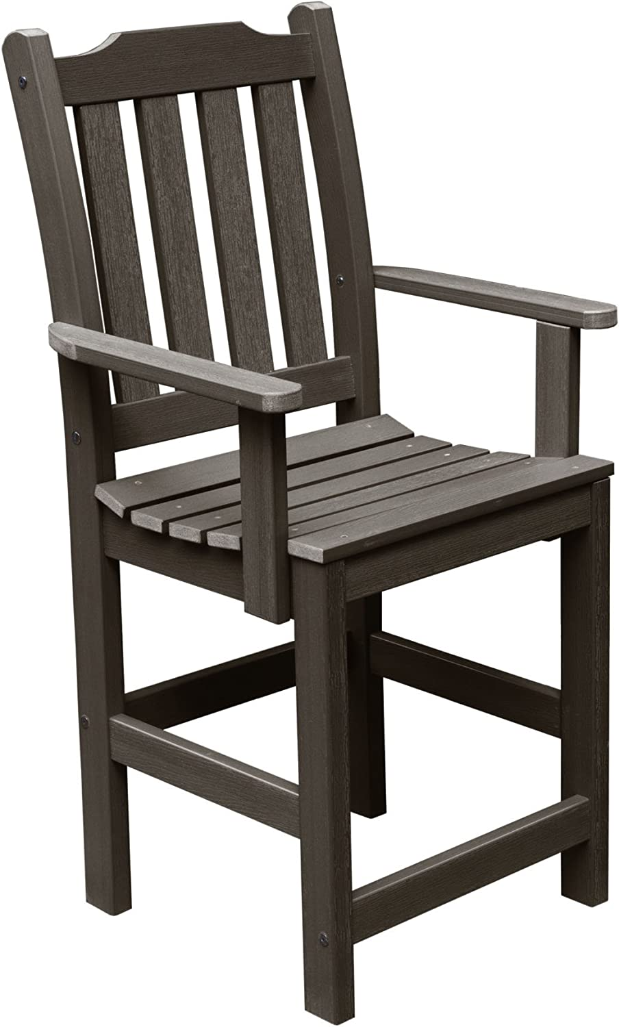 Highwood AD-CHCL2-ACE Lehigh Counter Height Armchair, Weathered Acorn