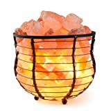 """Amazon Price History for:HemingWeigh Salt Lamp Natural Himalayan Metal Basket Bowl Lamp 8x7.15"""" with Salt Chips, Electric Wire and Bulb Included"""