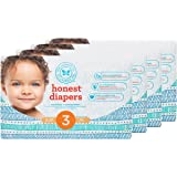 Honest Baby Diapers, Teal Tribal, Size 3, 136 Count