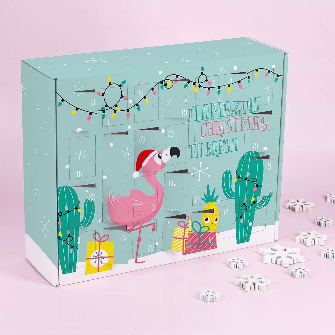 Herz /& Heim/® Adventskalender f/ür Teenager zum Bef/üllen mit Flamingo Flamazing Christmas