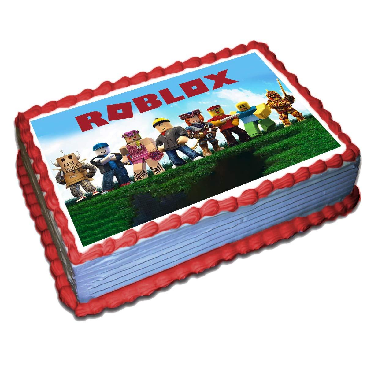 Easy Roblox Birthday Cake Ideas Amazon Com Grocery Gourmet Food