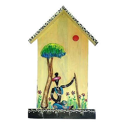 Amazon Com India Meets India Key Hooks Handmade Beautiful Hut