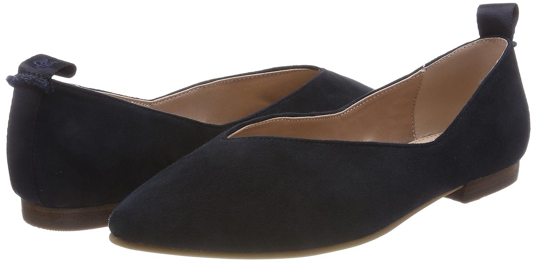 Marc O'Polo Damen Ballerina 80214003005304 Geschlossene Ballerinas Ballerinas Ballerinas Blau (Dark Blau) 192ca5