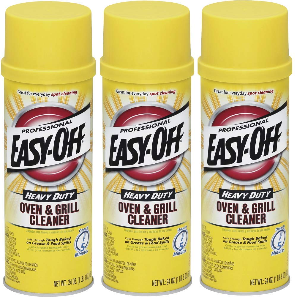 Easy Off Professional Oven & Grill Cleaner, 24 oz Can (3 Pack(24 oz))