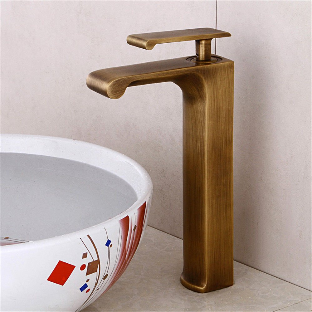 ETERNAL QUALITY Bathroom Sink Basin Tap Brass Mixer Tap Washroom Mixer Faucet Antique antique basin faucet full copper hot and cold water washbasin mixer faucet surface