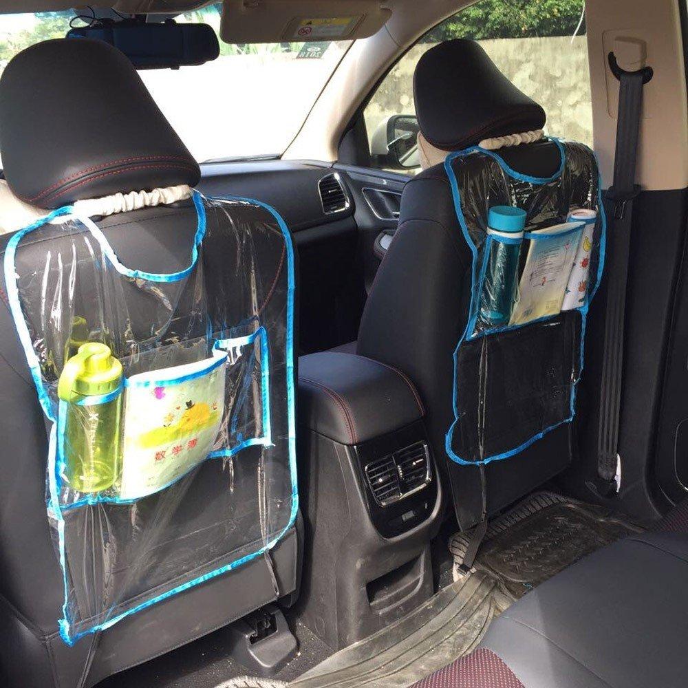 Amison Coche Auto Asiento Respaldo la cubierta del protector para los niños Kick Mat bolsa de almacenamiento Malloom-Accesorios