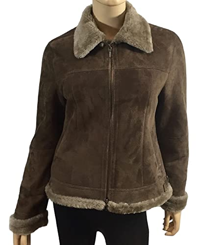 DX Leather Products – Chaqueta – para mujer beige XXXX-Large