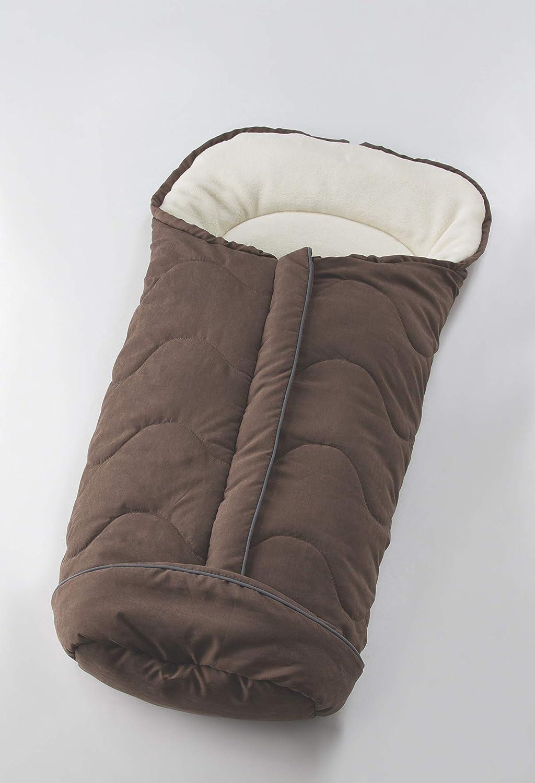 Nuvita 9515 Junior Velour - Sacco Termico Universale per Passeggino. Ideale per neonati, bimbi e bambini (Blue -Beige)