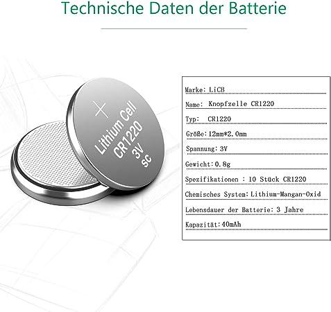 Licb Cr1220 3v Lithium Button Cell Batteries Cr 1220 Elektronik