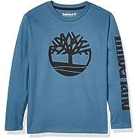 Timberland Boys Long Sleeve Heathered Jersey Knit Tee Shirt Long Sleeve Shirt