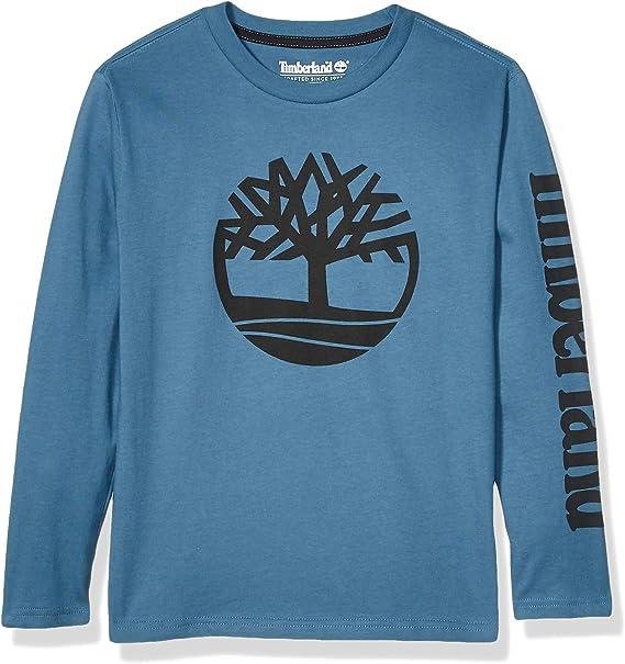 Cuarto ornamento rodear  Timberland Boys' Big Long Sleeve Heathered Jersey Knit Tee Shirt, Indigo  Teal, S8: Amazon.ca: Clothing & Accessories
