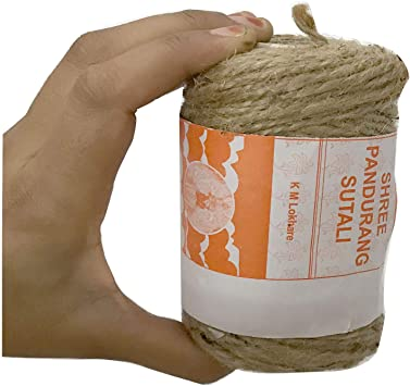 3Ply Natural Jute Twine Bundling Decoration Arts and Crafts Jute Rope Industrial Packing Materials Packing String for Gifts,DIY Crafts Gardening and Recycling