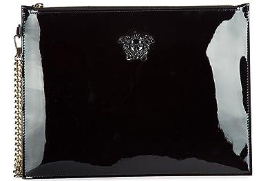 9ac85d5d843 Versace sac à main pochette femme en cuir noir  Amazon.fr ...
