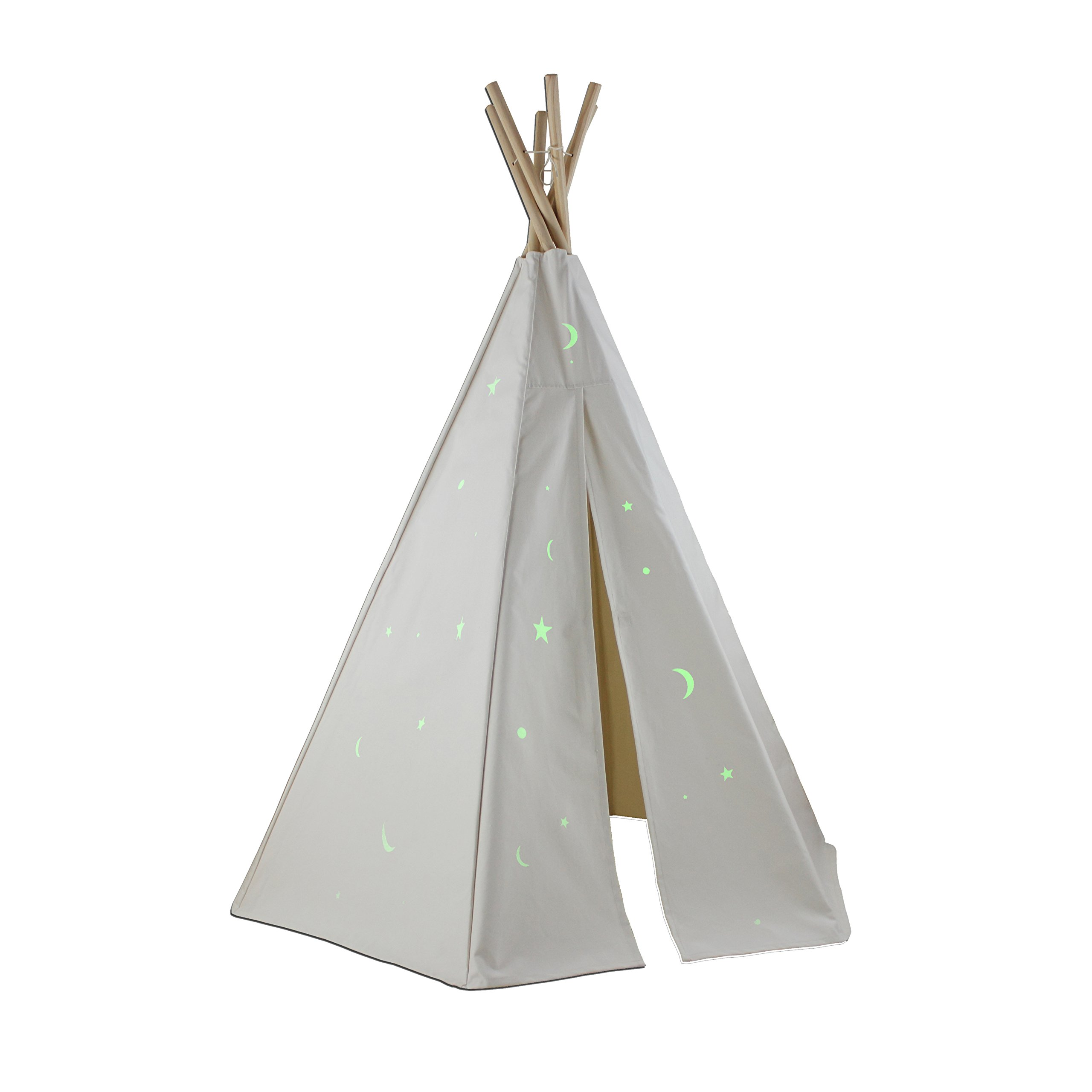 Dexton Great Plains Teepee with Glow in The Dark Stars, 6' by Dexton (Image #1)