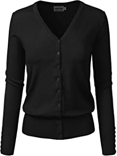 963c28463d Instar Mode Women s Classic Button Down Long Sleeve V-Neck Soft Knit  Sweater Cardigan