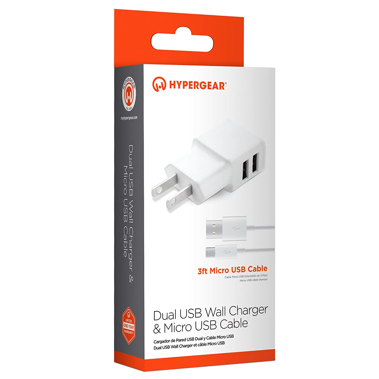 Amazon.com: HyperGear Portable USB Rapid Charging 2 Port ...