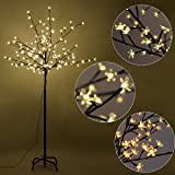 Furinho Bush - 6FT 160LED Christmas Xmas Cherry Blossom LED Tree Light Floor Lamp Holiday Decor Warm White YRS 1161