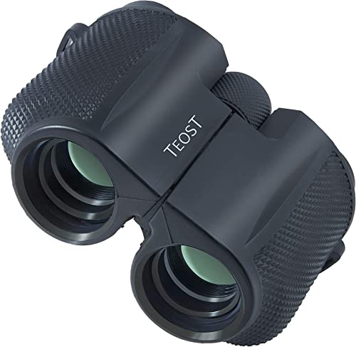 TEOST 10×25 Binoculars for Adults Compact for Travel. High Power, Waterproof and Low Light Night Vision Binocular Perfect for Game Hunting, Safari, Bird Watching and Sports