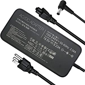 New Slim AC ADP-180MB F FA180PM111Charger for Asus ROG G75 G75VW G75VX GL502VT G750JW G750JM G750JX G751JL G751JM G752VL G-Series Laptop Power Supply Adapter Cord 19.5V 9.23A 180W