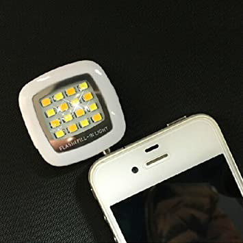 VANKER 1Pc - Mini portátil Smartphone 16 Flash LED de luz de z ...