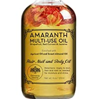 Amaranth Multi-Use Oil for Face, Body and Hair - Organic Blend of Apricot, Vitamin...